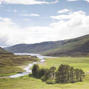 Cairngorm Loch and mountains Scotland