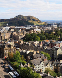 Edinburgh, Old Town skyline with Arthur's Seat